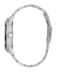 Gents Silver Tone Case Silver Tone Stainless Steel Watch