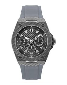Gents Gunmetal Case Grey Silicone Watch