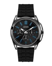 Gents Gunmetal Case Black Silicone Watch