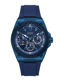 Gents Blue Case Blue Silicone Watch