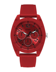 Gents Red Case Red Silicone Watch