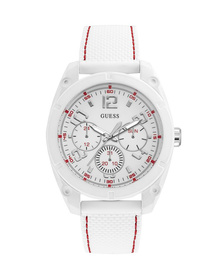 Gents White Case White Silicone Watch