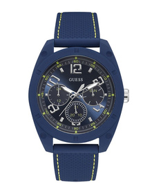 Gents  Case Blue Silicone Watch