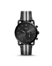 Hybrid Smartwatch - Commuter Black Stripe Leather