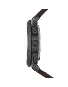 Hybrid Smartwatch - Machine Dark Brown Leather