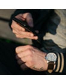 Hybrid Smartwatch - Grant Dark Brown Leather
