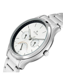 Workwear Watch with Silver Dial & Stainless Steel Strap