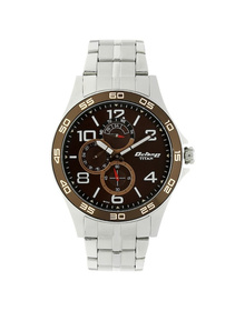 Octane Brown Dial Silver Stainless Steel Strap Watch
