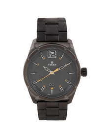 Anthracite Dial Grey Stainless Steel Strap Watch