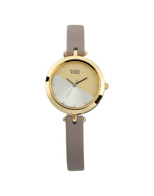 Raga Viva Champagne Dial Leather Strap Watch