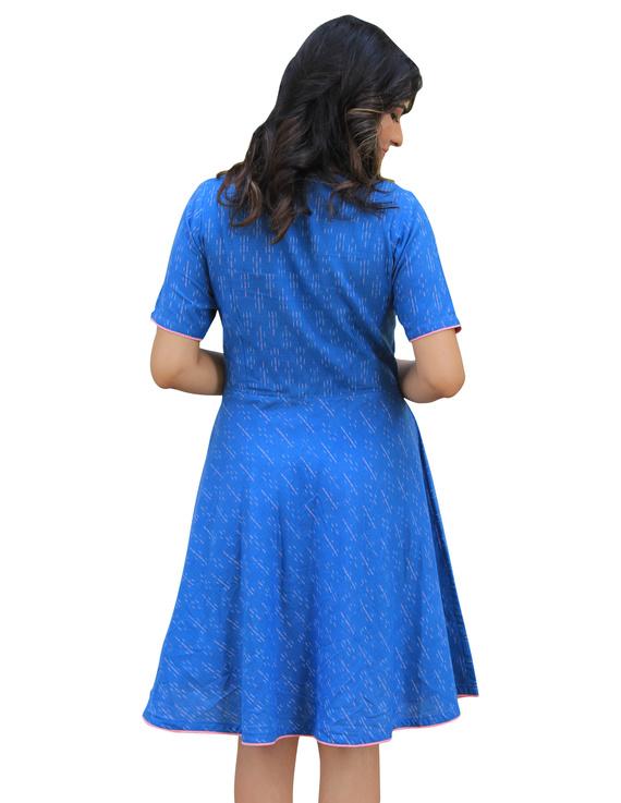BLUE SHORT DRESS : LD400B-XS-2