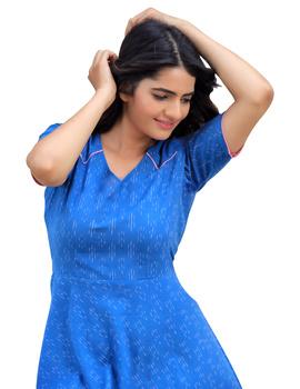 BLUE SHORT DRESS : LD400B-L-1-sm