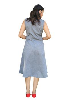 GREY MANGALAGIRI PRINCESS SLIT DRESS : LK310B-L-2-sm