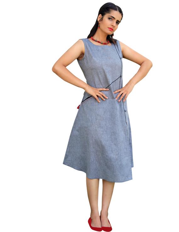 GREY MANGALAGIRI PRINCESS SLIT DRESS : LK310B-LK310B-XXL
