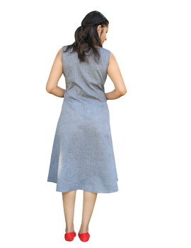 GREY MANGALAGIRI PRINCESS SLIT DRESS : LK310B-XXL-2-sm