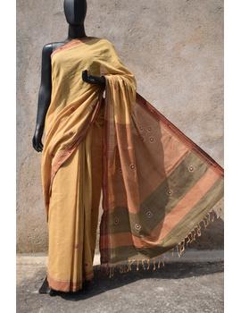 Handloom saree with hand embroidery : SM13-SM13-sm
