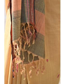 Handloom saree with hand embroidery : SM13-2-sm