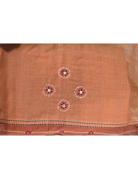 Handloom saree with hand embroidery : SM13-3-sm