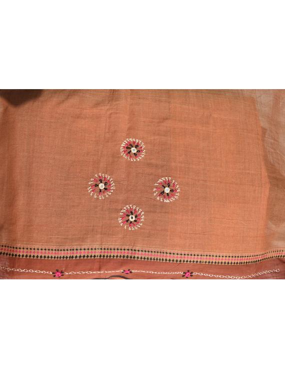 Handloom saree with hand embroidery : SM13-3
