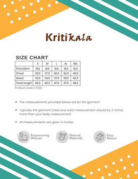 WHITE AND BLUE MIDI KURTA IN IKAT COTTON : LK320A-L-3-sm