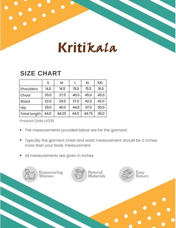MEHENDI GREEN KALAMKARI STRAIGHT KURTA WITH SHAWL COLLAR : LK330A-S-3
