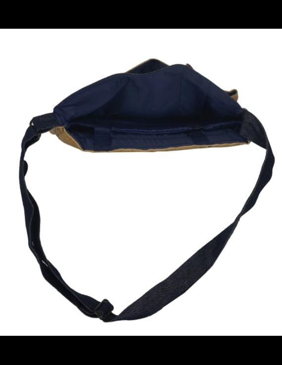 BLUE DENIM & JUTE LAPTOP BAG: LBD01-3