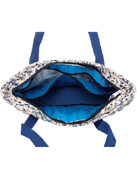 BLUE KALAMKARI SHOULDER CUM LAPTOP BAG: LBK01-Blue-3-sm