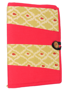 Reusable diary sleeve with diary - red : STJ01-Ruled-1-sm