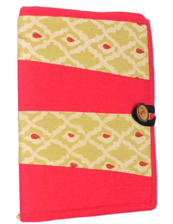 Reusable diary sleeve with diary - red : STJ01-Ruled-1