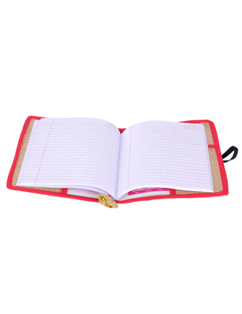 Reusable diary sleeve with diary - red : STJ01-Ruled-2-sm