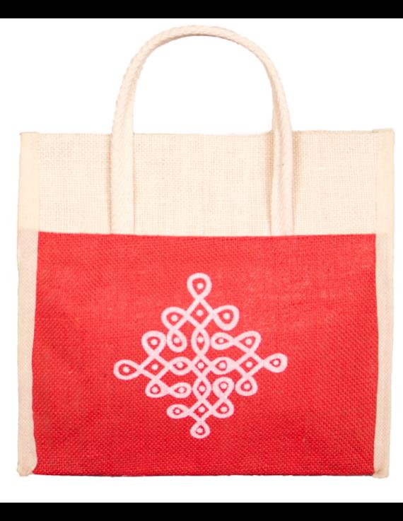 RED JUTE LUNCH BAG: MSL01-MSL01