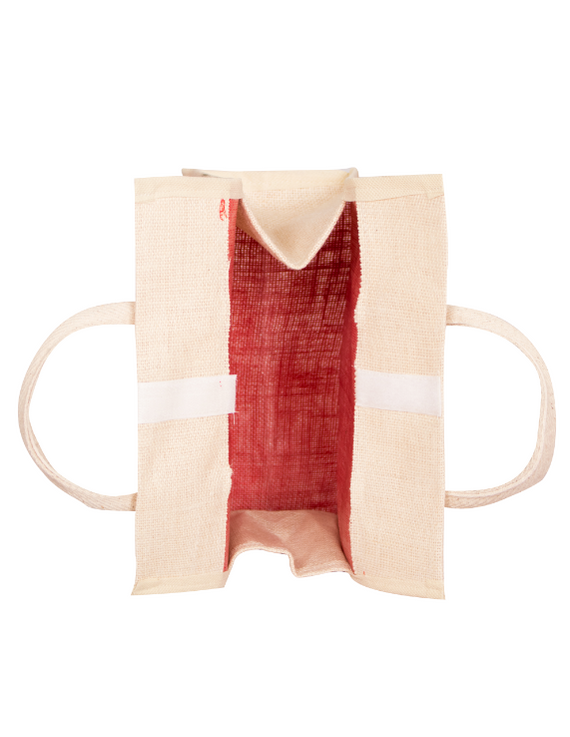 RED JUTE LUNCH BAG: MSL01-1