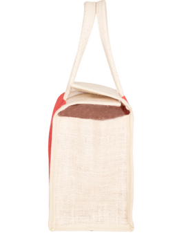 RED JUTE LUNCH BAG: MSL01-2-sm