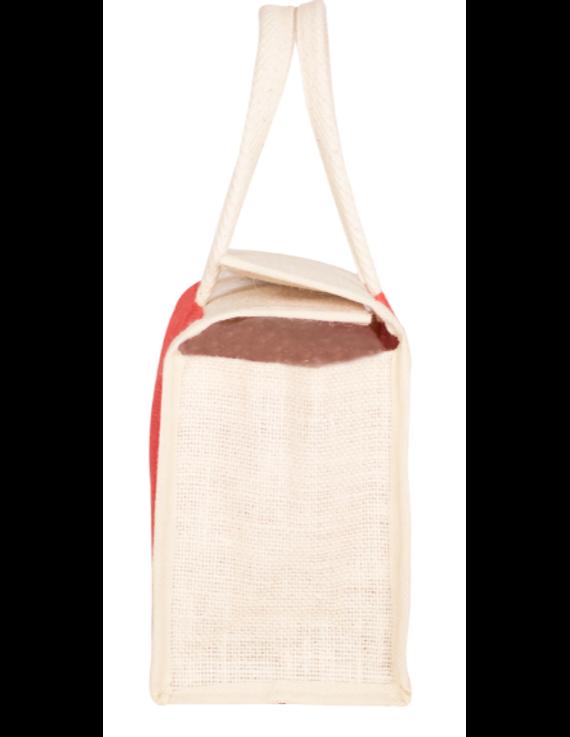 RED JUTE LUNCH BAG: MSL01-2