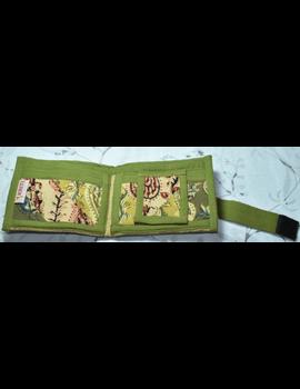 GREEN KALAMKARI UNISEX WALLET- MANGO DESIGN: WLU02-7-sm