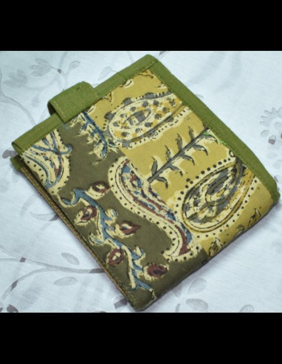 GREEN KALAMKARI UNISEX WALLET- MANGO DESIGN: WLU02-8