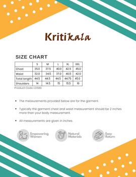 Mehendi green ikat silk kurta with hand embroidery: LK450A-S-4-sm