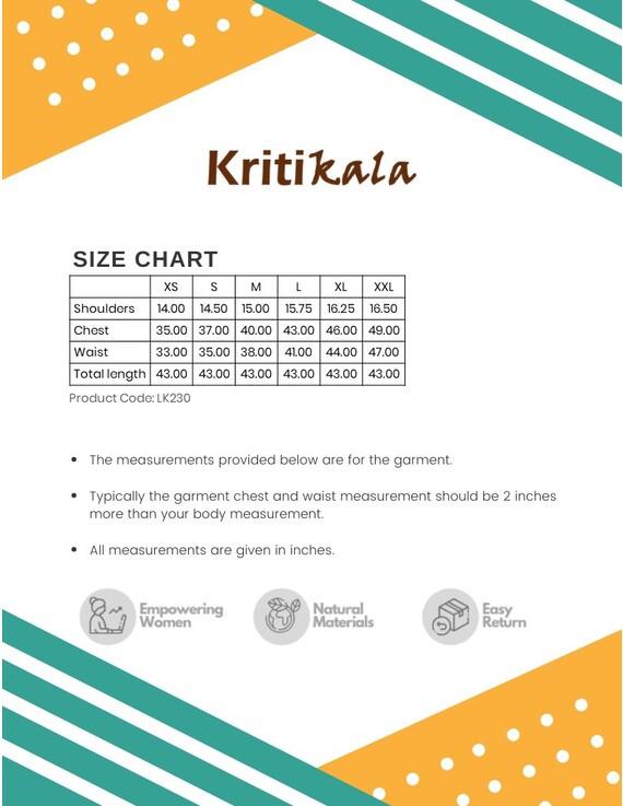 OFF WHITE KALAMKARI TASSEL A LINE KURTA WITH NARROW PANTS : LK230C-L-3