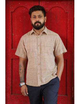 Casual Handloom Cotton Shirt : GT430A-GT430A-M-sm