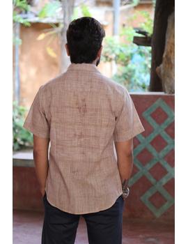 Casual Handloom Cotton Shirt : GT430A-XXL-Beige Pink-2-sm