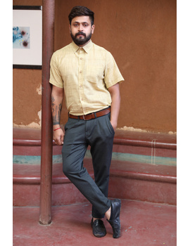 Casual Handloom Cotton Shirt : GT430B-GT430B-XXL-sm