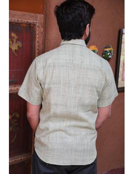 Casual Handloom Cotton Shirt : GT430C-M-Mint green-1-sm