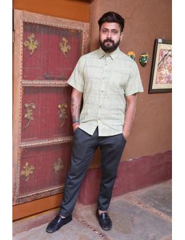 Casual Handloom Cotton Shirt : GT430C-GT430C-XL-sm