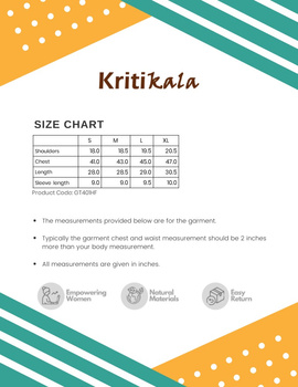 Beige Handloom Cotton Short Kurta With Half Sleeves : GT401HFB-XL-Beige-2-sm