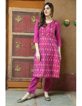 Maroon Silk Kurta With Matching Pants: Fv140B-FV140B-L-sm