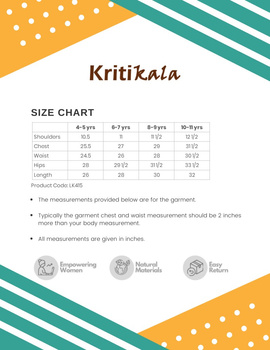 Yellow Girls Kurta With Pintucks:  Lk415C-(4-5)-2-sm