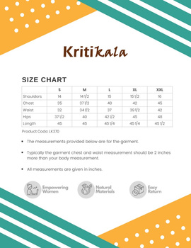 Peach A Line Kurta With Banjara Embroidery: Lk370A-L-3-sm
