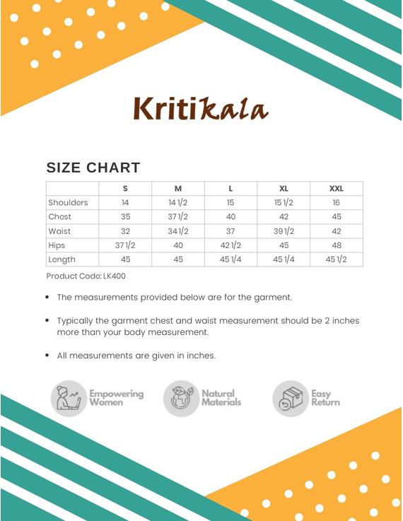 Mustard Mandarin Collar Kurta With Hand Embroidery: Lk400B-XXl-3