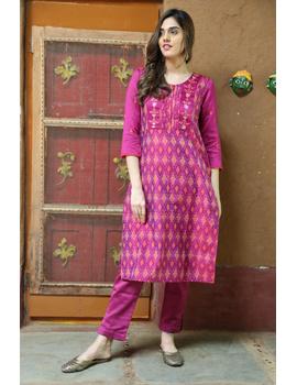Maroon Silk Kurta With Matching Pants: Fv140B-S-1-sm
