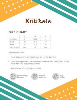 Knee length straight dress in multicolour ikat cotton: LD470C-S-5-sm
